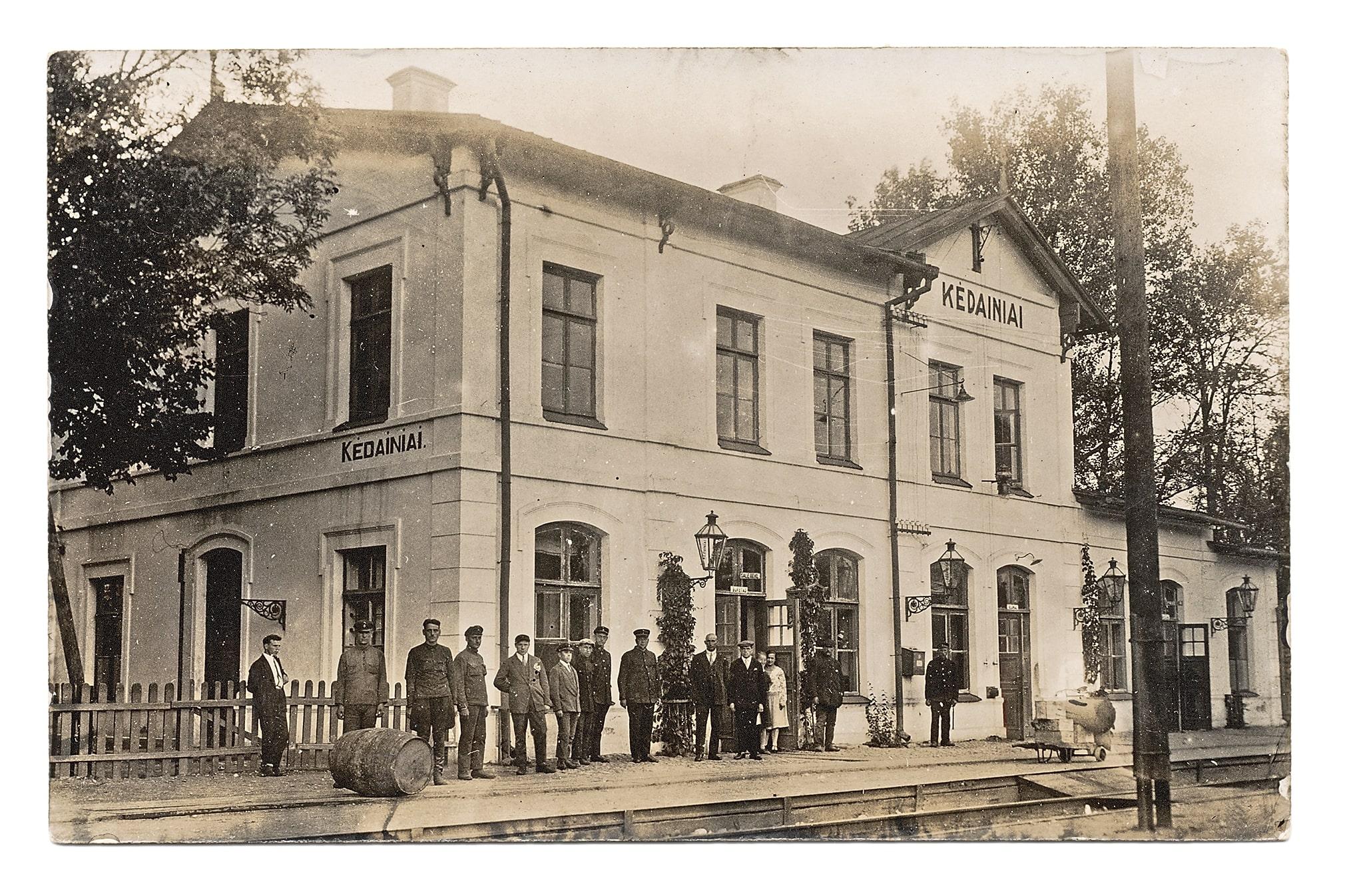 Kėdainių geležinkelio stotis. 1944 m. liepos 30 d. susprogdinta nacių. V. Garbaliausko nuotr.