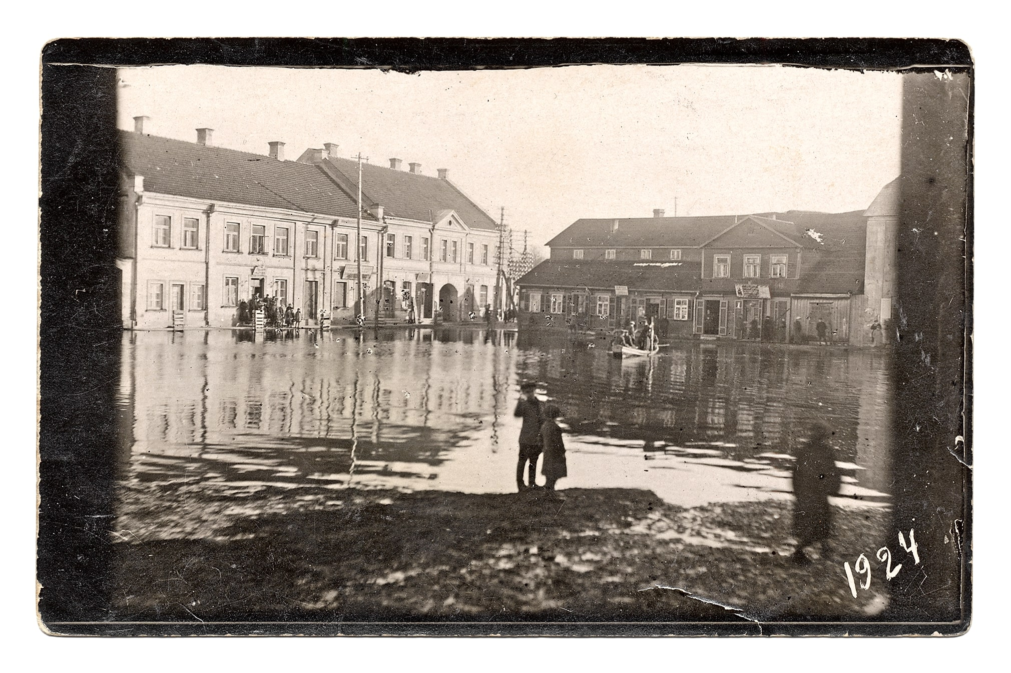 Potvynis Vilniaus (dabar Didžioji Rinkos) aikštėje, 1924 m.