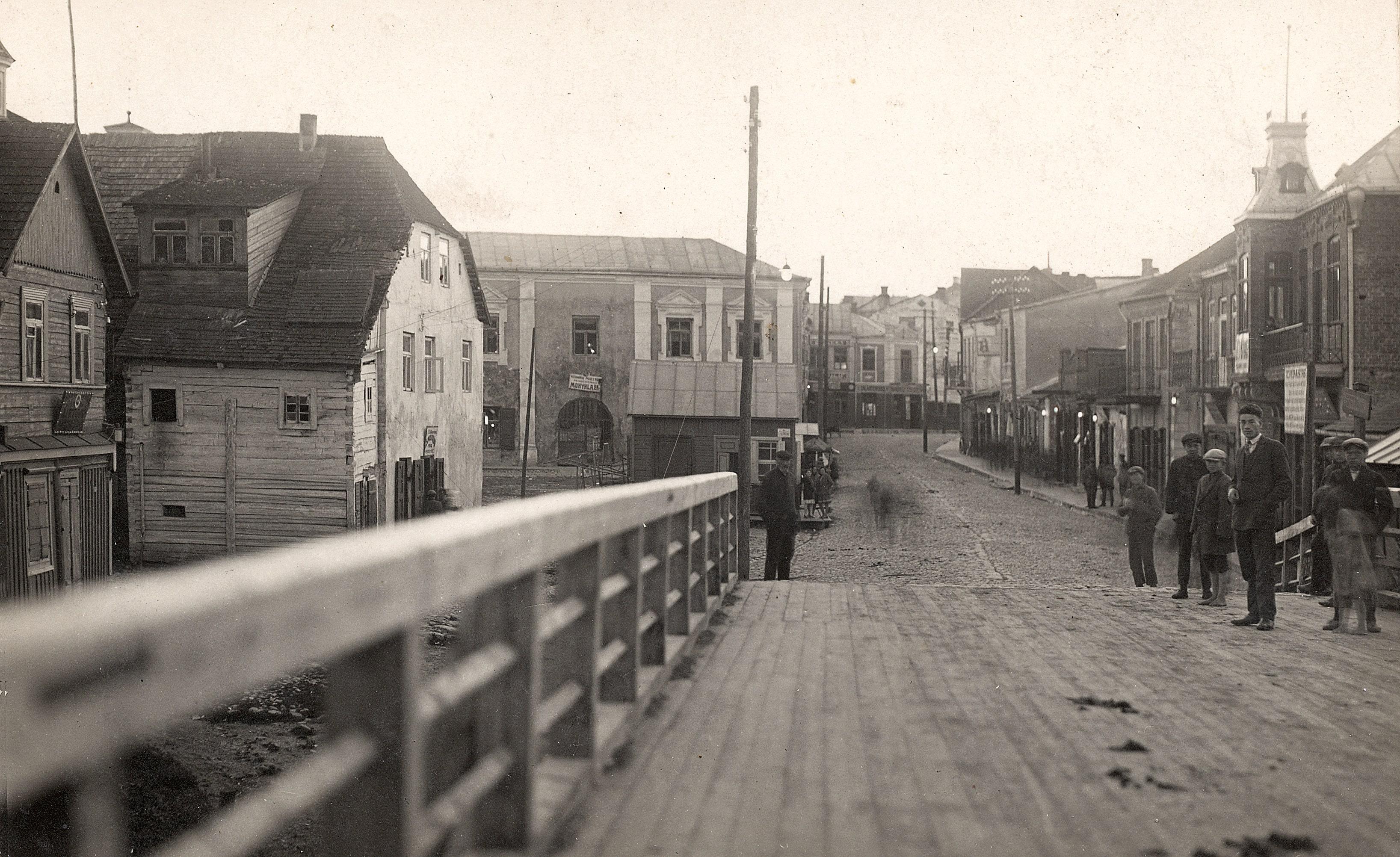 Pėsčiųjų tiltas per Nevėžį, 1928 m