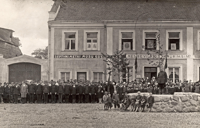 Vilniaus krašto okupacijos 7 metų minėjimas Kėdainių Didžiosios Rinkos aikštėje, 1927 m.