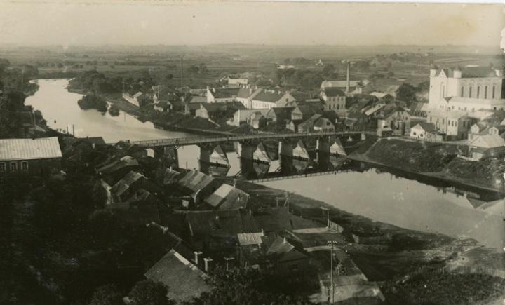 Kėdainių vaizdas ir tiltas per Nevėžį, XX a. 4 deš.
