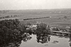 Geležinkelis ir vandens malūnas prie Dotnuvėlės užtvankos, 1934 m.